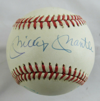 Mickey Mantle, Stan Musial, & Enos Slaughter Signed OAL Baseball (JSA LOA) at PristineAuction.com