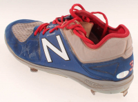 "Chris Taylor Signed Pair of Game-Used New Balance Baseball Cleats Inscribed ""17GU"" (LOJO Hologram) at PristineAuction.com"
