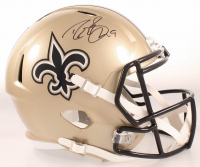 Drew Brees Signed Saints Full-Size Speed Helmet (Beckett COA & Brees Hologram) at PristineAuction.com