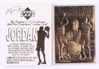 Michael Jordan 1995 LE 23kt Gold Upper Deck Baseball Card at PristineAuction.com