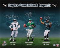 Ron Jaworski, Randall Cunningham & Donovan McNabb Signed Eagles 16x20 Photo (Beckett COA) at PristineAuction.com