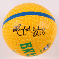 "Ronaldinho Signed Team Brazil Logo Soccer Ball Inscribed ""Rio"" (Beckett COA) at PristineAuction.com"