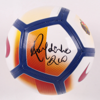 "Ronaldinho Signed FC Barcelona Logo Soccer Ball Inscribed ""Rio"" (Beckett COA) at PristineAuction.com"