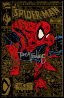 """Stan Lee & Todd McFarlane Signed 1990 """"Spider-Man"""" Issue #1 Gold Marvel Comic Book (JSA ALOA) at PristineAuction.com"""