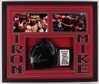 Mike Tyson Signed 21.5x25.5x2 Custom Framed Shadowbox Display (Fiterman Sports Hologram) at PristineAuction.com