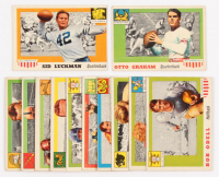 Lot of (12) 1955 Topps All-American Football Cards with #12 Otto Graham, #85 Sid Luckman at PristineAuction.com