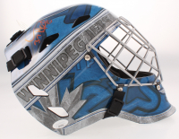 Connor Hellebuyck Signed Jets Full-Size Goalie Mask (JSA COA) at PristineAuction.com