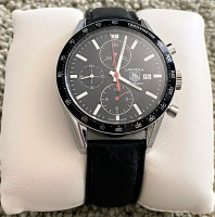 Tag Heuer Carrera Men's Wristwatch with Box & Papers at PristineAuction.com
