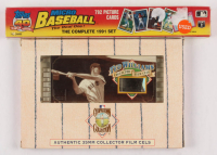 Lot of (2) Assorted Baseball Items with Ted Williams Cooperstown Collection Baseball Authentic 35MM Collector Film Cels #47 & 1991 Topps Micro 40th Anniversary Complete Set of (792) Cards at PristineAuction.com