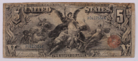 "1896 $5 Five-Dollar ""Educational Series"" Large-Size Silver Certificate at PristineAuction.com"