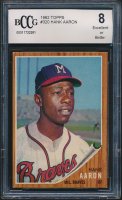 Hank Aaron 1962 Topps #320 (BCCG 8) at PristineAuction.com