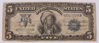 "1899 $5 Five-Dollar ""Indian Chief"" U.S. Silver Certificate Large-Size Bank Note at PristineAuction.com"