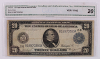 1914 $20 Twenty-Dollar Blue Seal U.S. Large-Size Federal Reserve Note (CGA 20) at PristineAuction.com