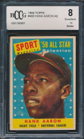 Hank Aaron 1958 Topps #48 All-Star (BCCG 8) at PristineAuction.com