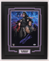 The Undertaker Signed WWE 18x22 Custom Framed Photo Display (PSA COA) at PristineAuction.com