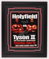 "Mike Tyson & Evander Holyfield Signed ""The Bite Fight"" 18x22 Custom Framed Photo Display (JSA COA) at PristineAuction.com"