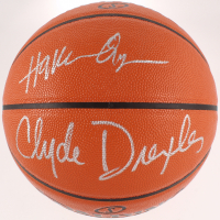 Hakeem Olajuwon & Clyde Drexler Signed Official NBA Game Ball Series Basketball (Beckett COA) at PristineAuction.com