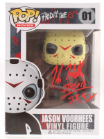 "Kane Hodder Signed ""Friday the 13th"" Jason Voorhees #01 Funko Pop! Vinyl Figure Inscribed ""Jason 7, 8, 9, X"" (JSA COA) at PristineAuction.com"