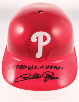 """Pete Rose Signed Reds Full-Size Souvenir Batting Helmet Inscribed """"1980 W.S. Champs"""" (Fiterman Sports Hologram) at PristineAuction.com"""