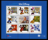 Vintage Disney Characters Portugal Uncut Stamp Sheet at PristineAuction.com