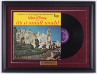 "1963 Original Disney ""It's a Small World"" 18.5x24.5 Custom Framed Vinyl LP Record Display at PristineAuction.com"