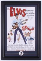 Elvis Presley 15.5x22.5 Custom Framed Print Display with Vintage Elvis Pin at PristineAuction.com