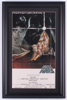"""Star Wars: Episode IV -  A New Hope"" 15x23 Custom Framed Movie Poster Display at PristineAuction.com"