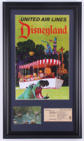 "Disneyland's ""Jungle Cruise"" 15.5x26.5 Custom Framed Poster Print Display with) Vintage Jungle Cruise Postcard Photo & Disneyland Ticket at PristineAuction.com"