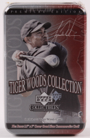 2001 Upper Deck Tiger Woods Collection Golf Tin Set Box with (26) Cards at PristineAuction.com
