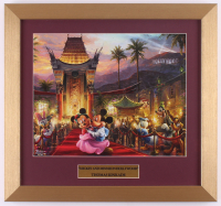 "Thomas Kinkade Walt Disney's ""Mickey & Minnie in Hollywood"" 15x16 Custom Framed Print Display at PristineAuction.com"