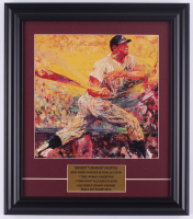 "LeRoy Neiman ""Mickey Mantle"" 14x16 Custom Framed Print Display at PristineAuction.com"