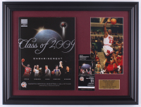 Michael Jordan Bulls 15.5x20.5 Custom Framed Photo Display with 2009 Basketball Hall of Fame Induction Program & Ticket at PristineAuction.com