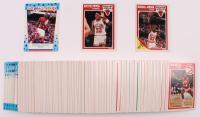 Complete Set of (168) 1989-90 Fleer Basketball Cards with Complete Sticker Set including #21 Michael Jordan, #23 Scottie Pippen, #3 Michael Jordan Sticker at PristineAuction.com