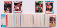 Complete Set of (168) 1989-90 Fleer Basketball Cards with Complete Sticker Set including #21 Michael Jordan, #8 Larry Bird, #3 Michael Jordan Sticker, #10 Larry Bird Sticker at PristineAuction.com