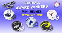 Schwartz Sports EXTREME ODDS - Football Award Winners Signed Mini Helmet Mystery Box –Series 2 (Limited to 20) - 20 Different Award Winners!! at PristineAuction.com