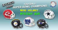 Schwartz Sports EXTREME ODDS - Super Bowl Champion Signed Mini Helmet Mystery Box –Series 2 (Limited to 25) - 25 Different Super Bowl Champions!! at PristineAuction.com