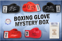 Schwartz Sports Boxing Superstar Signed Mystery Boxing Glove - Series 7 (Limited to 75) **MUHAMMAD ALI Autograph – Grand Prize** at PristineAuction.com