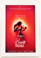 """Beauty & The Beast"" 13.5x19.5 Custom Framed Movie Poster Dispay at PristineAuction.com"