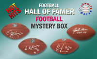 Schwartz Sports HOT HITS Football Hall of Famer Signed Full Size Football Mystery Box - Series 1 (Limited to 15) - 15 Different Hall of Famers!! at PristineAuction.com