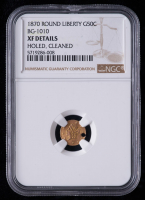 1870 Round Liberty California Fractional 50C Gold Coin (NGC XF Details) at PristineAuction.com
