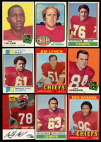 Lot of (9) Chiefs Football Cards with 1971 Topps #13 Buck Buchanan at PristineAuction.com
