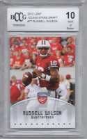Russell Wilson 2012 Leaf Young Stars Draft #77 (BCCG 10) at PristineAuction.com