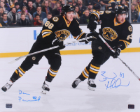 Brad Marchand & David Pastrnak Signed Bruins 16x20 Photo (YSMS COA) at PristineAuction.com
