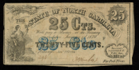 1863 25¢ Twenty-Five Cents - The Bank of the State of South Carolina Bank Note at PristineAuction.com