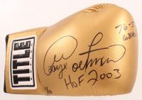 "George Foreman Signed LE Title Boxing Glove Inscribed ""HOF 2003"", ""76-5"" & ""68 KO's""  (JSA COA) at PristineAuction.com"