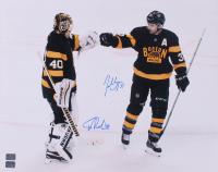 Tuukka Rask & Patrice Bergeron Signed Bruins 16x20 Photo (YSMS COA) at PristineAuction.com