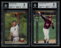 Lot of (2) BGS Graded 9 Derek Jeter Baseball Cards with 1993 Upper Deck #449 RC & 1992 Classic Four Sport #231 at PristineAuction.com