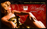 Marilyn Monroe Limited Edition Relic Card with Authentic Stamp of Monroe's Stocking at PristineAuction.com