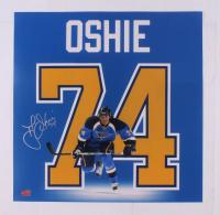 T. J. Oshie Signed Blues 18x18 Photo (YSMS COA) at PristineAuction.com