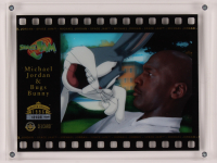 1996 Upper Deck Authenticated Space Jam Celcards #NNO Michael Jordan / Bugs Bunny at PristineAuction.com